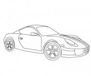 Coloriage Porsche couleur