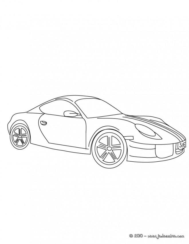 Coloriage porsche couleur dessin gratuit imprimer - Coloriage cars facile ...