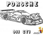 Coloriage et dessins gratuit Porsche de course 991 GT1 à imprimer