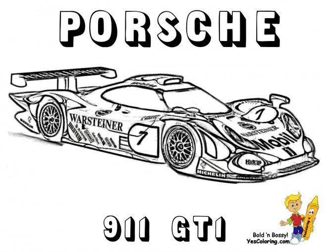 Coloriage et dessins gratuits Porsche de course 991 GT1 à imprimer
