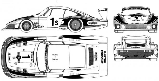 Coloriage et dessins gratuits Porsche de course rapide à imprimer