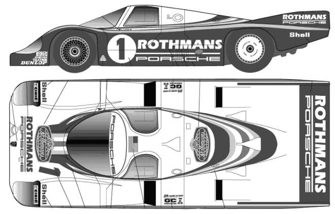 Coloriage et dessins gratuits Porsche de course tout puissant à imprimer