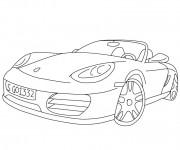 Coloriage Porsche décapotable