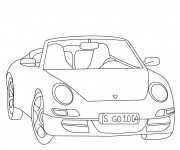 Coloriage Porsche facile