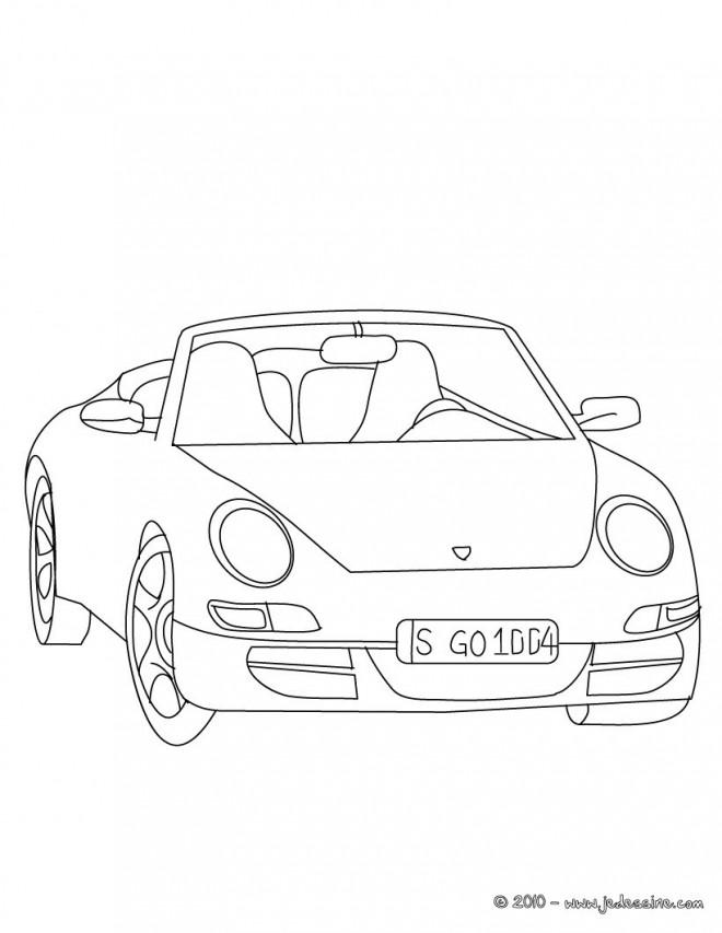 Coloriage et dessins gratuits Porsche facile à imprimer