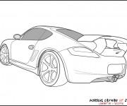 Coloriage et dessins gratuit Porsche GT à imprimer