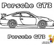 Coloriage et dessins gratuit Porsche GT3 à imprimer