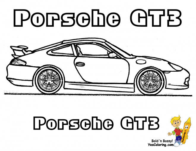coloriage porsche gt3 dessin gratuit imprimer. Black Bedroom Furniture Sets. Home Design Ideas