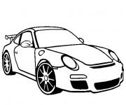 Coloriage Porsche maternelle