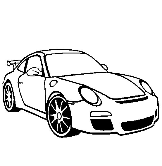 Coloriage et dessins gratuits Porsche maternelle à imprimer