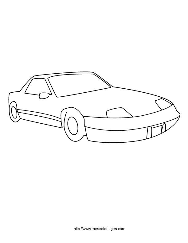 Coloriage et dessins gratuits Porsche simple à imprimer