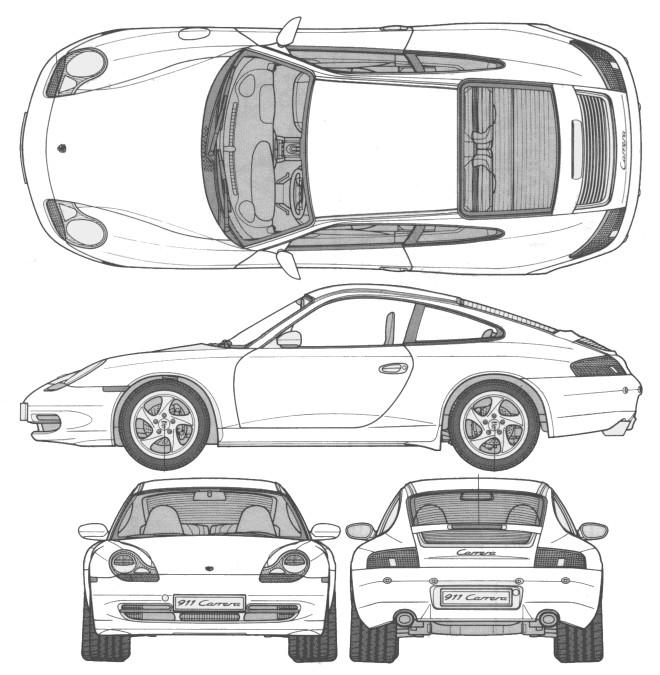 Coloriage et dessins gratuits Porsche sport perspective à imprimer