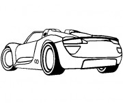 Coloriage et dessins gratuit Porsche sport  stylisé à imprimer