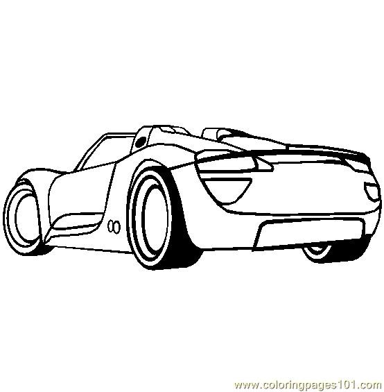 Coloriage et dessins gratuits Porsche sport  stylisé à imprimer