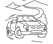 Coloriage et dessins gratuit Porsche sur la route à imprimer