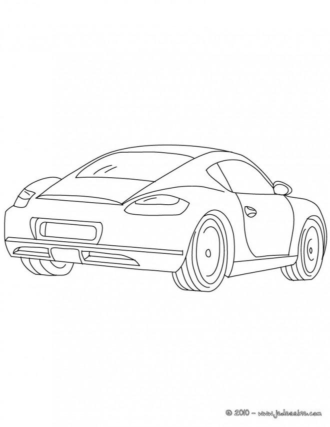 Coloriage et dessins gratuits Porsche turbo facile à imprimer