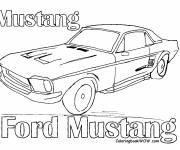 Coloriage et dessins gratuit vieille Ford Mustang à imprimer