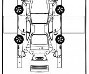 Coloriage Voiture Porsche en ligne