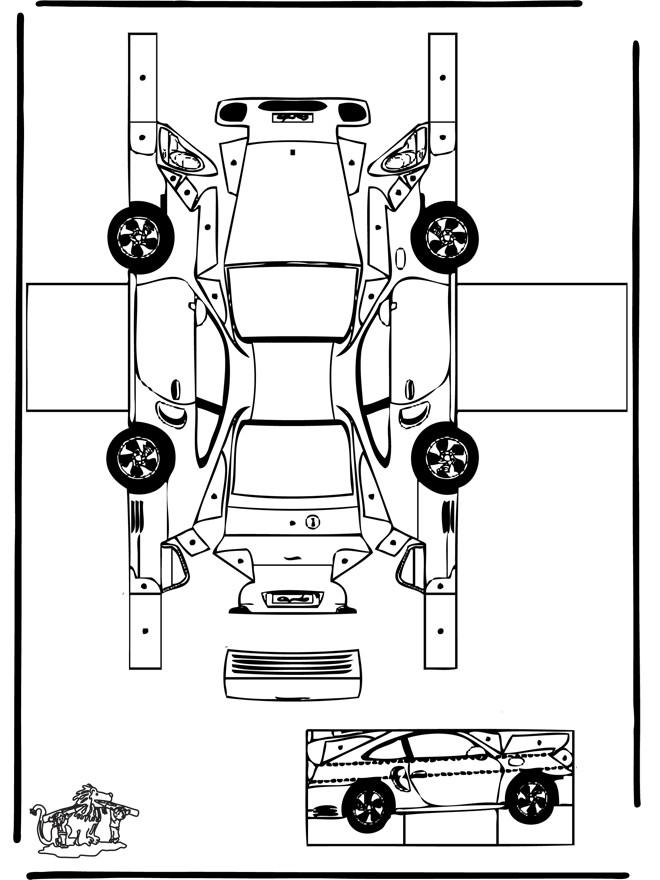 Coloriage et dessins gratuits Voiture Porsche en ligne à imprimer