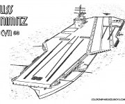 Coloriage et dessins gratuit Bateau de Guerre USS Nimitz à imprimer