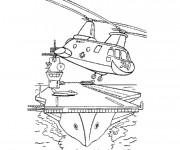 Coloriage et dessins gratuit Hélicoptere militaire à imprimer