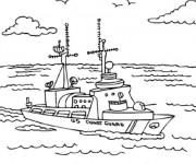 Coloriage et dessins gratuit Navire garde-côte à imprimer