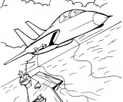 Coloriage Porte Avion 4