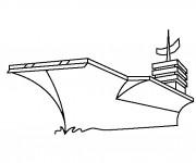 Coloriage et dessins gratuit Porte Avion américain à imprimer