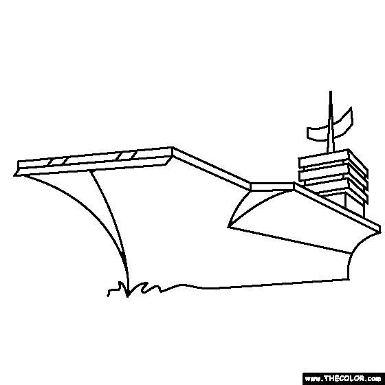 Coloriage porte avion am ricain dessin gratuit imprimer - Dessin porte avion ...