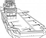 Coloriage et dessins gratuit Porte Avion de guerre à imprimer