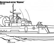 Coloriage et dessins gratuit Porte Avion Soviétique à imprimer