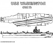 Coloriage Porte Avion USS Washington