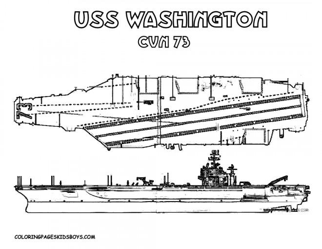 Coloriage et dessins gratuits Porte Avion USS Washington à imprimer