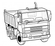 Coloriage Camion 46