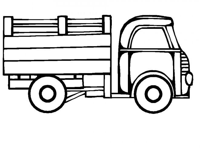 Coloriage et dessins gratuits Camion couleur à imprimer