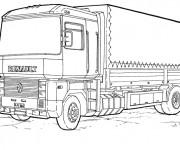 Coloriage et dessins gratuit Camion Renault à imprimer
