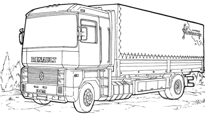 Coloriage Camion Renault Dessin Gratuit à Imprimer