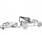Coloriage et dessins gratuit Dépanneuse à imprimer