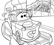 Coloriage Remorque de Flash Mcqueen