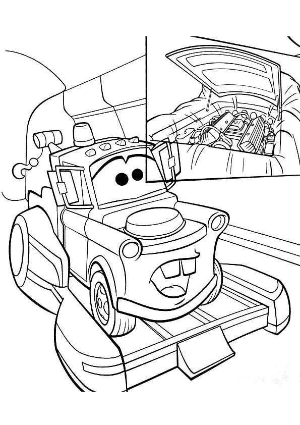 Coloriage et dessins gratuits Remorque de Flash Mcqueen à imprimer