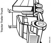 Coloriage et dessins gratuit Tracteur Remorque à imprimer
