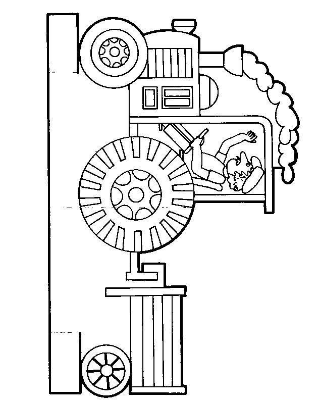 Coloriage et dessins gratuits Tracteur Remorque maternelle à imprimer