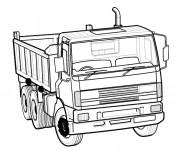 Coloriage et dessins gratuit Véhicule Camion à benne à imprimer