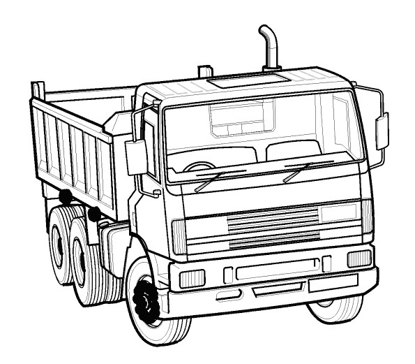 Coloriage Véhicule Camion à Benne Dessin Gratuit à Imprimer