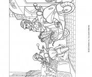 Coloriage Des Filles sur leurs Scooters dessin animé