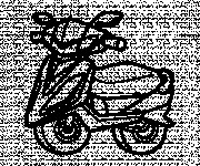 Coloriage Illustration Scooter
