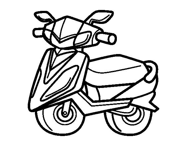 Coloriage et dessins gratuits Illustration Scooter à imprimer
