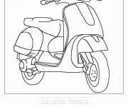 Coloriage et dessins gratuit La jolie Vespa à imprimer