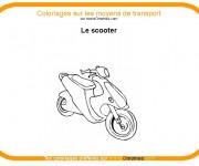 Coloriage Le Scooter à colorier