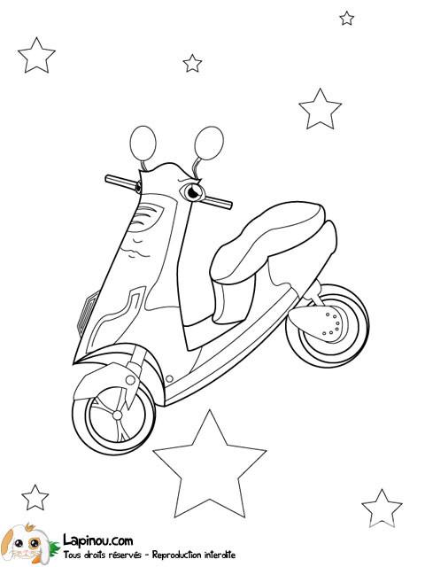 Coloriage et dessins gratuits Le Scooter magique à imprimer